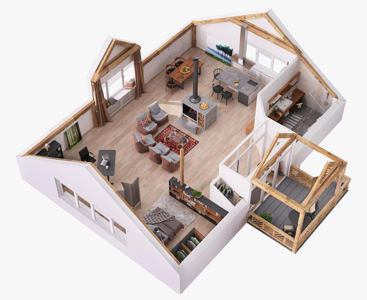 Best Kitchen Gallery: Attic Home Layout Interior Design Ideas of Home Layout Design  on rachelxblog.com