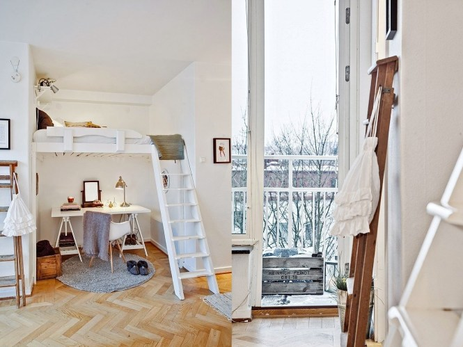 Small Studio Apartments With Lofted Beds