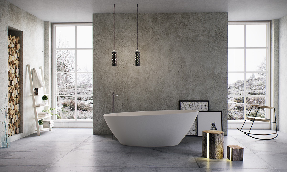 Slightly tilted edges give this tub a playful personality while providing extra support for the back.