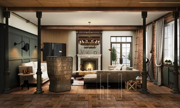 gatsby house interior