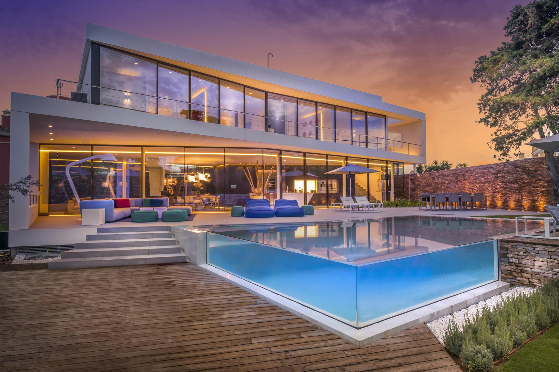 A Cool Beachfront Villa With Geometric Architecture on Glass House Design Ideas  id=22682