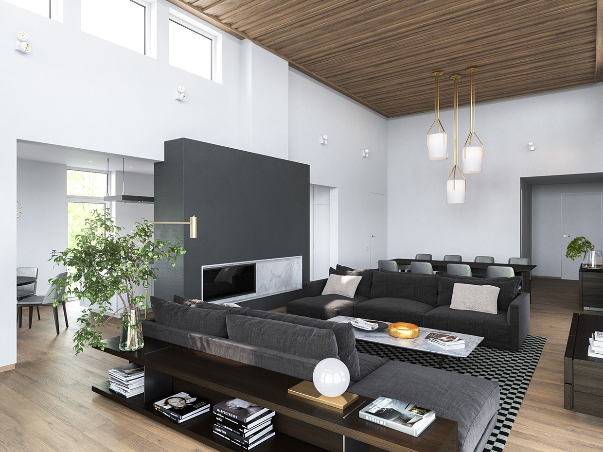 3 Modern Homes in Many Shades of Gray Like Architecture   Interior Design  Follow Us