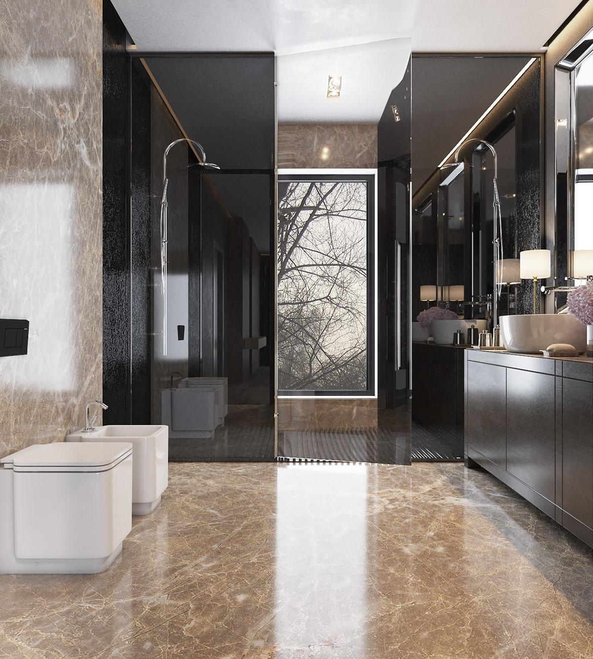 title | Modern luxurious bathrooms