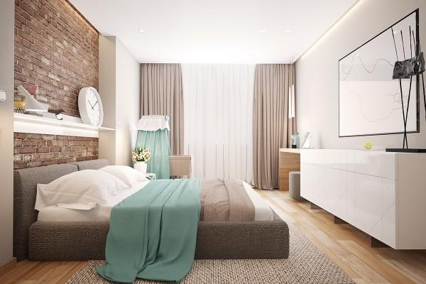 modern chic bedroom