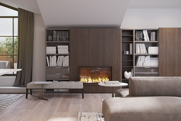 modern fireplace design ideas 3 Modern Homes With Amazing Fireplaces and Creative Lighting