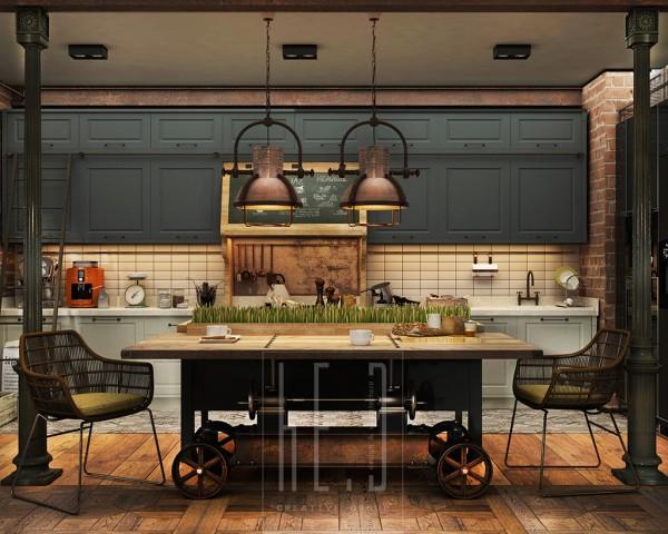 vintage inspired kitchen