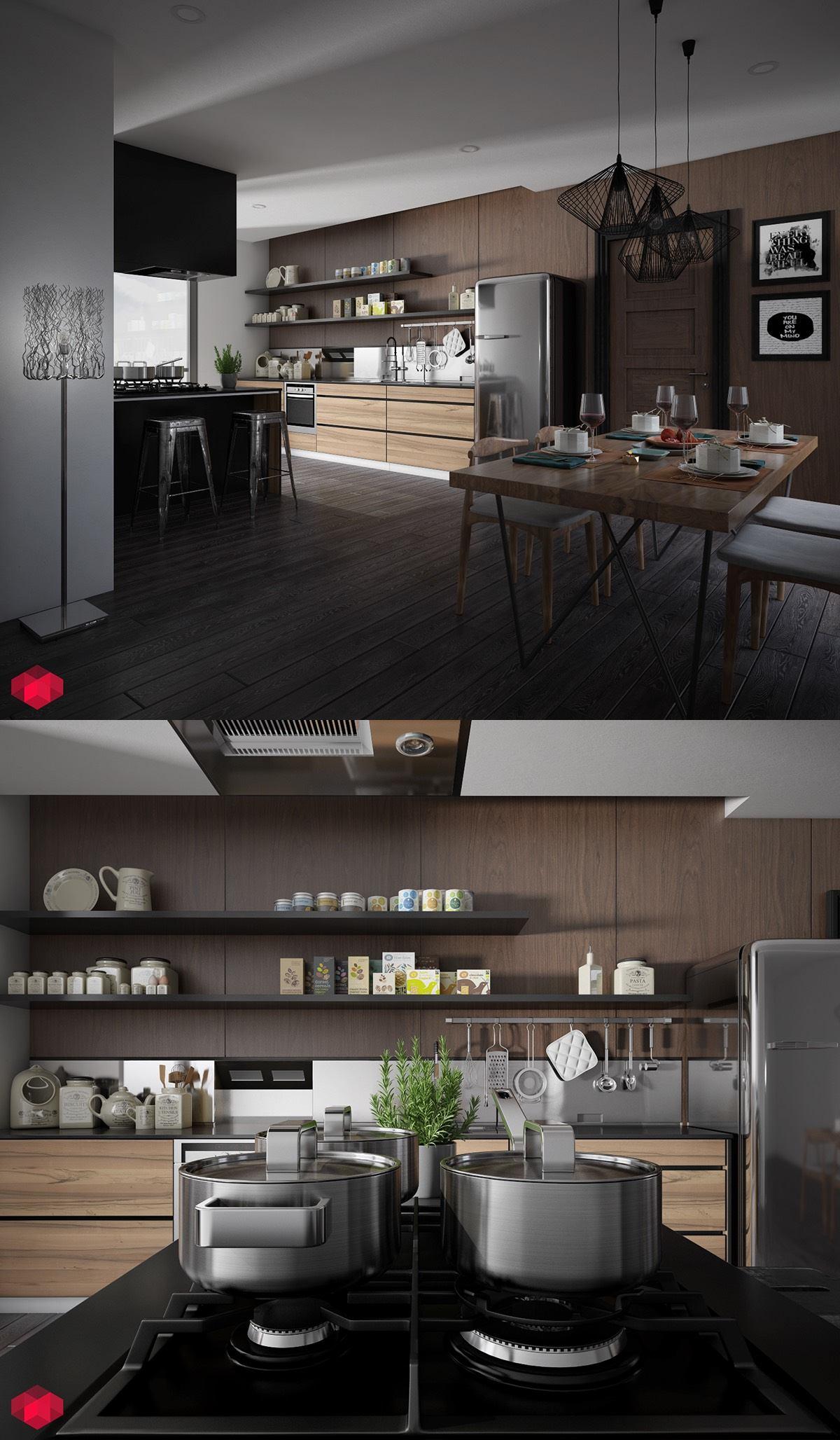 25 White And Wood Kitchen Ideas on Farmhouse:4Leikoxevec= Rustic Kitchen Ideas  id=12490