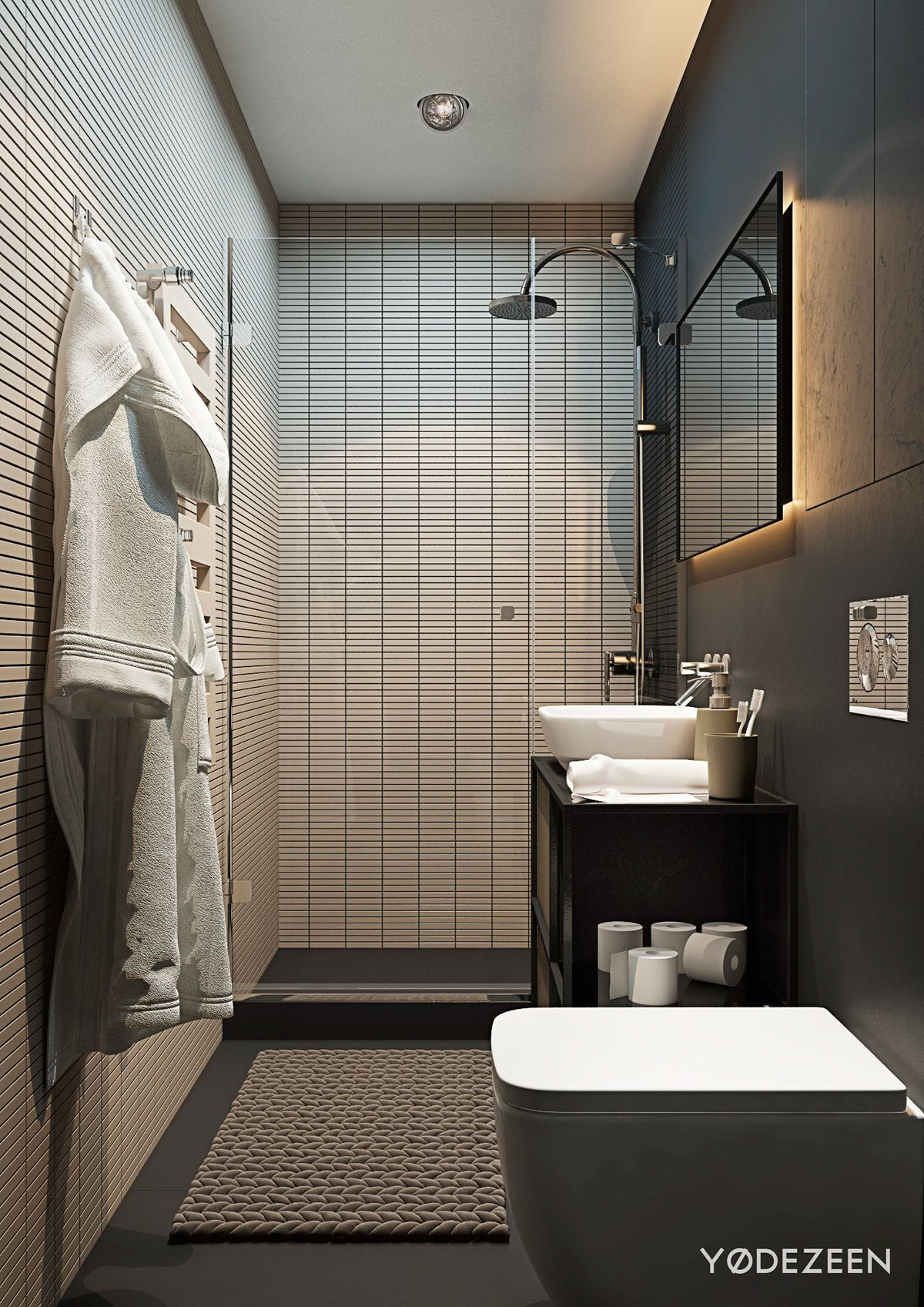 5 Small Studio Apartments With Beautiful Design on Small Apartment Bathroom Ideas  id=76925