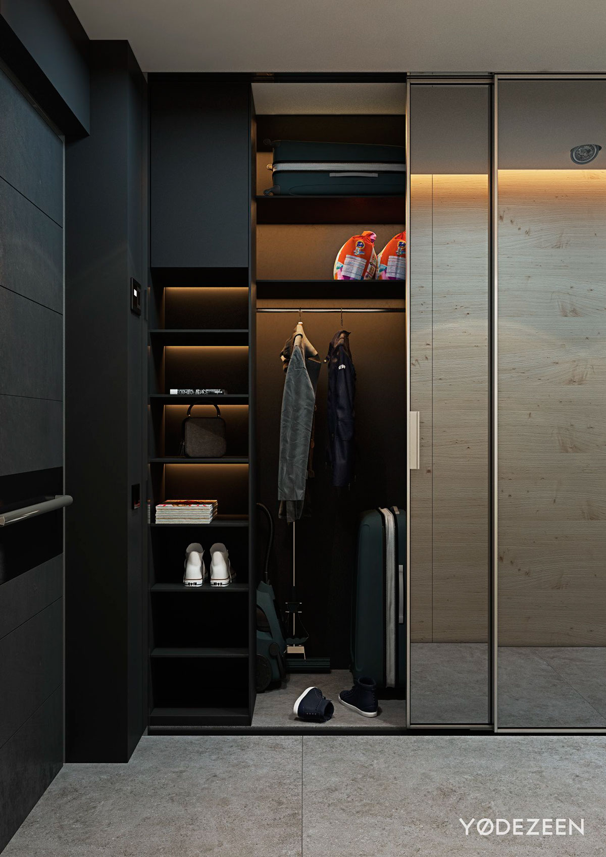 Small Dark Wood Wardrobe