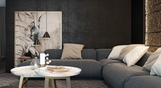 Lovely Black Living Room Decor Good