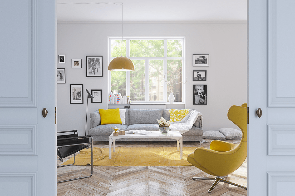 Interior Decorating with Color  How To Use Warm Hues  yellow living room  yellow interior  yellow interior decorating  colorful  living room  glamour