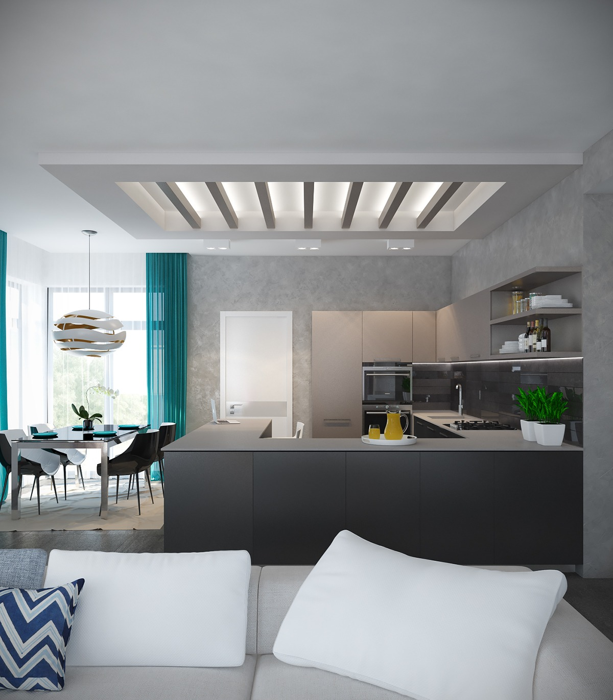 A Pair Of Modern Homes With Distinctively Bright Color Themes on Interior Modern House  id=56593