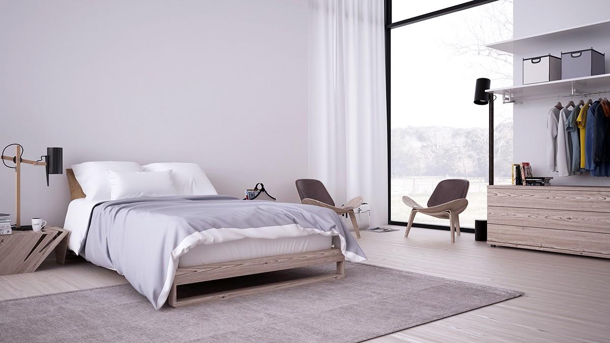 Inspiring Minimalist Interiors With Low-Profile Furniture on Minimalist Bedroom  id=64033