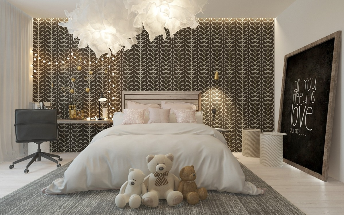 A Pair Of Childrens Bedrooms With Sophisticated Themes on Beautiful:9Ekmjwucuyu= Girls Room Decoration  id=32745