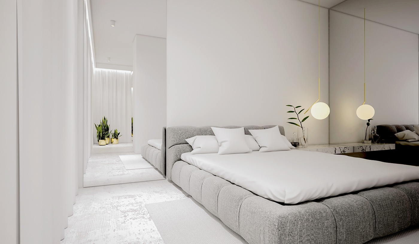 White Minimalist Spaces That Will Make You Forget All ... on Minimalist Bedroom  id=39592