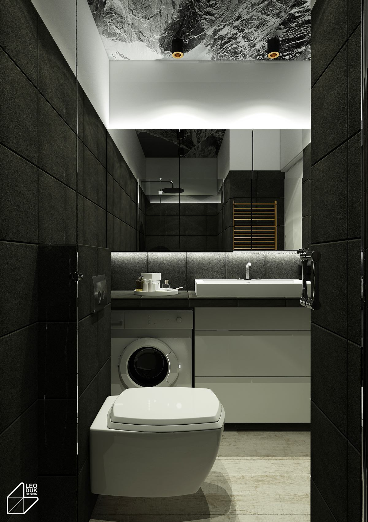 4 Charming Blue Accent Apartments With Compact Layouts on Apartment Bathroom  id=63762