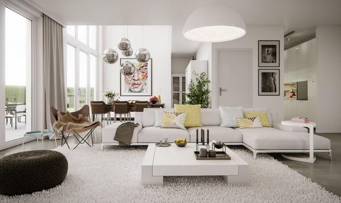 Living Room Modern Italian Furniture Compact