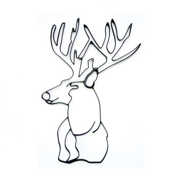 Deer Head Wood Pallet Wall Decor