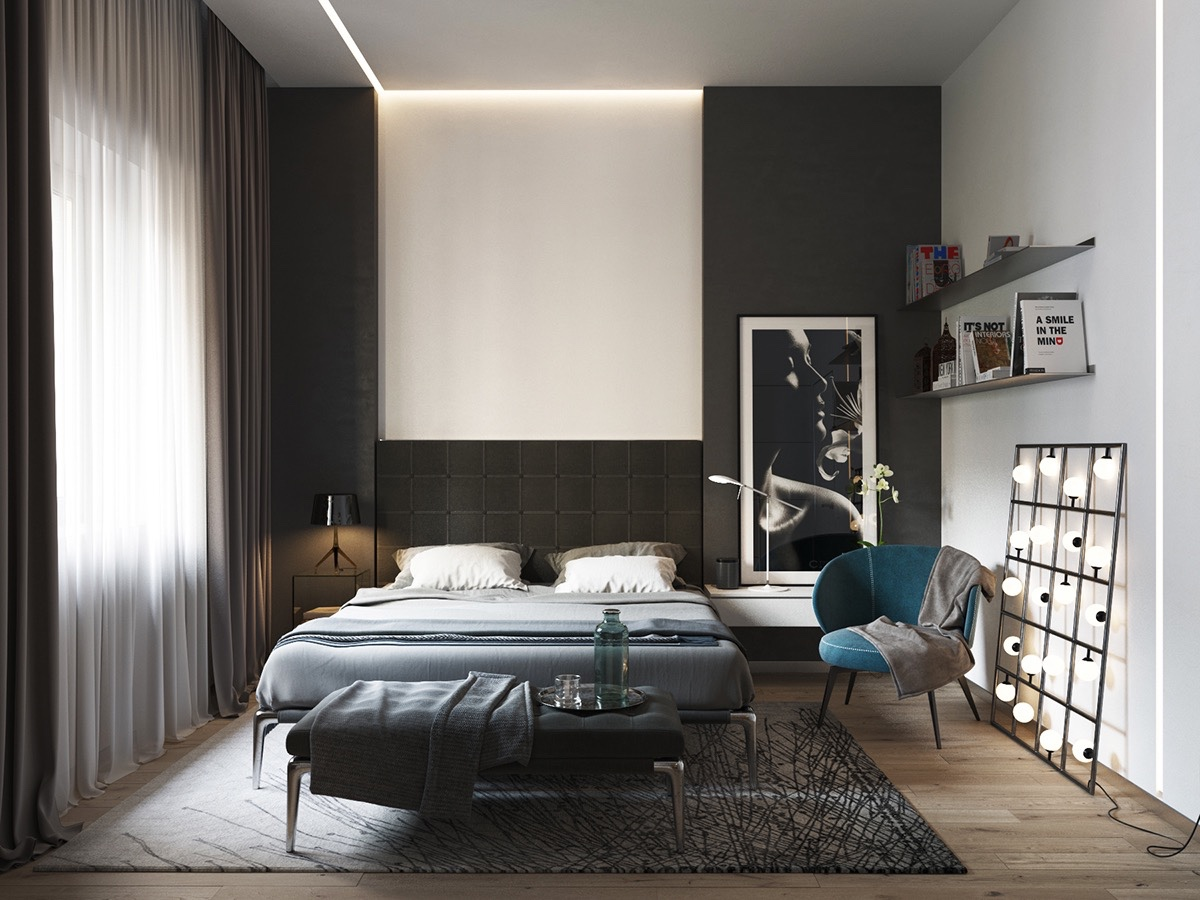 40 Beautiful Black Amp White Bedroom Designs