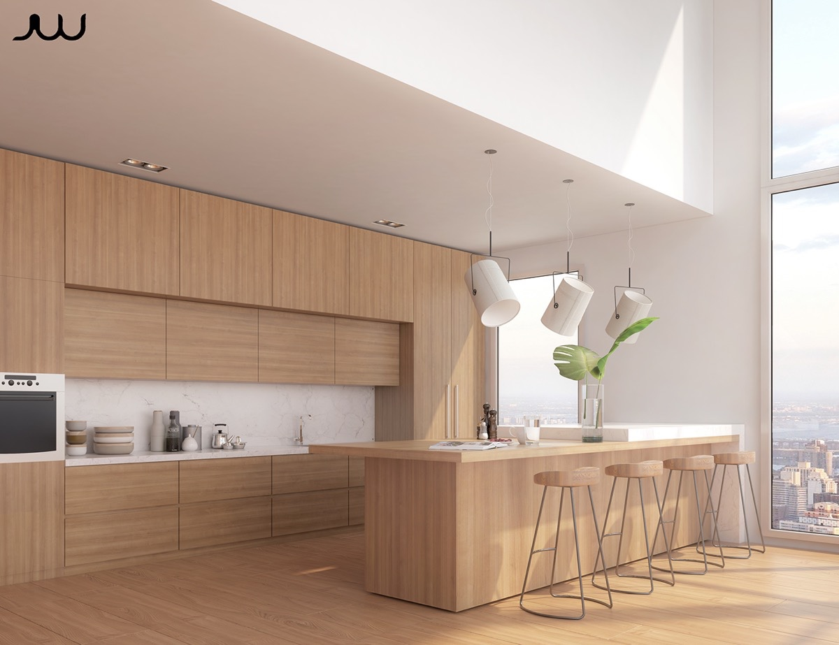 50 Modern Kitchen Designs That Use Unconventional Geometry on Modern Kitchen Design  id=12256