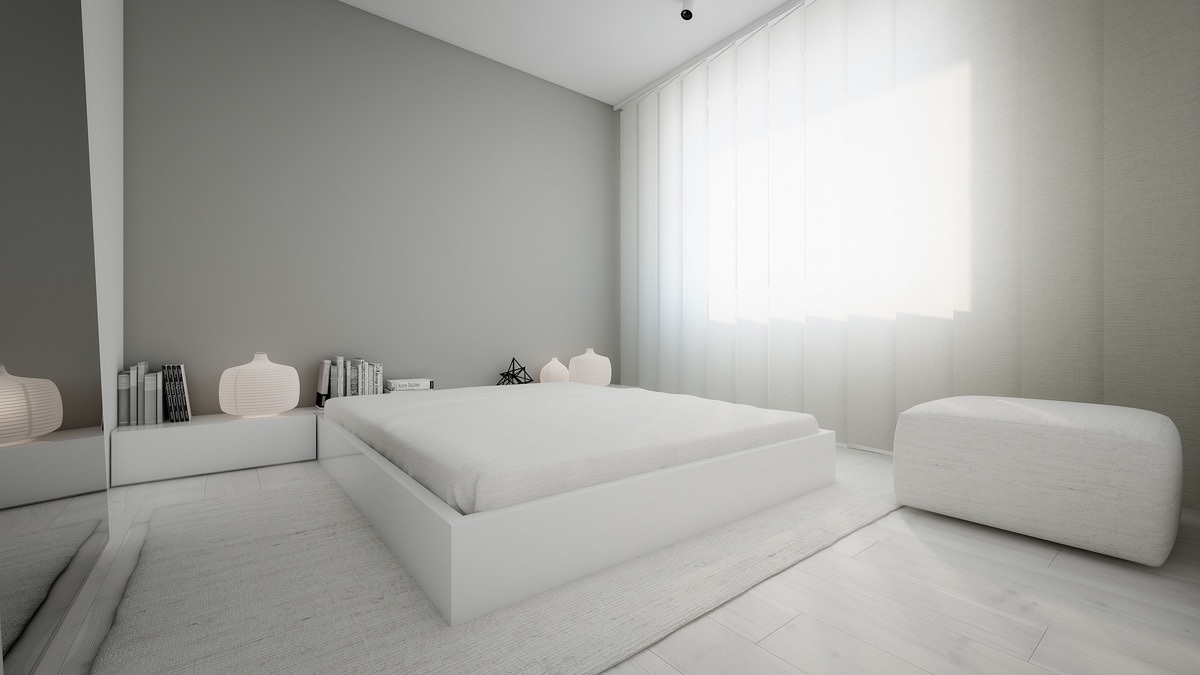 40 Serenely Minimalist Bedrooms To Help You Embrace Simple ... on Minimalist Bedroom  id=48675