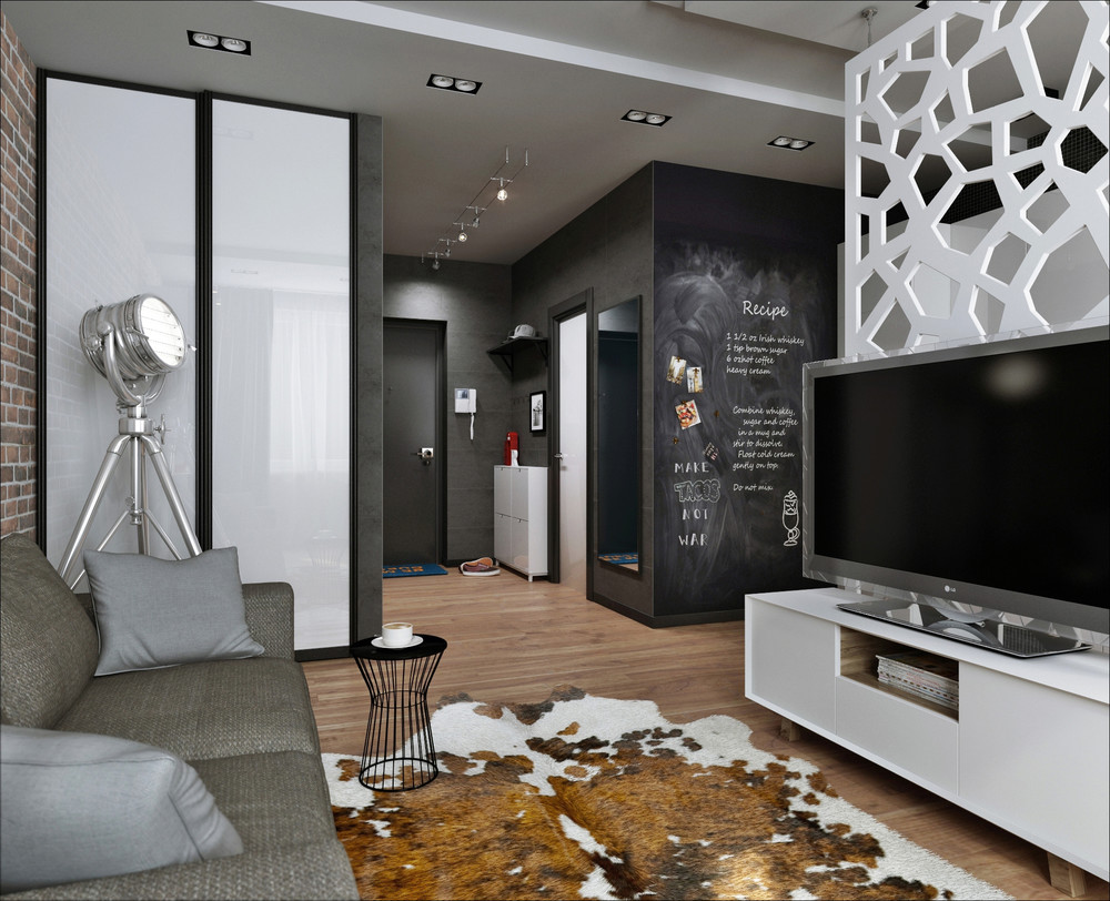 3 Small Apartments That Rock Uncommon Color Schemes With