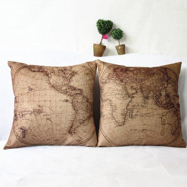 Travel Themed Throw Pillows