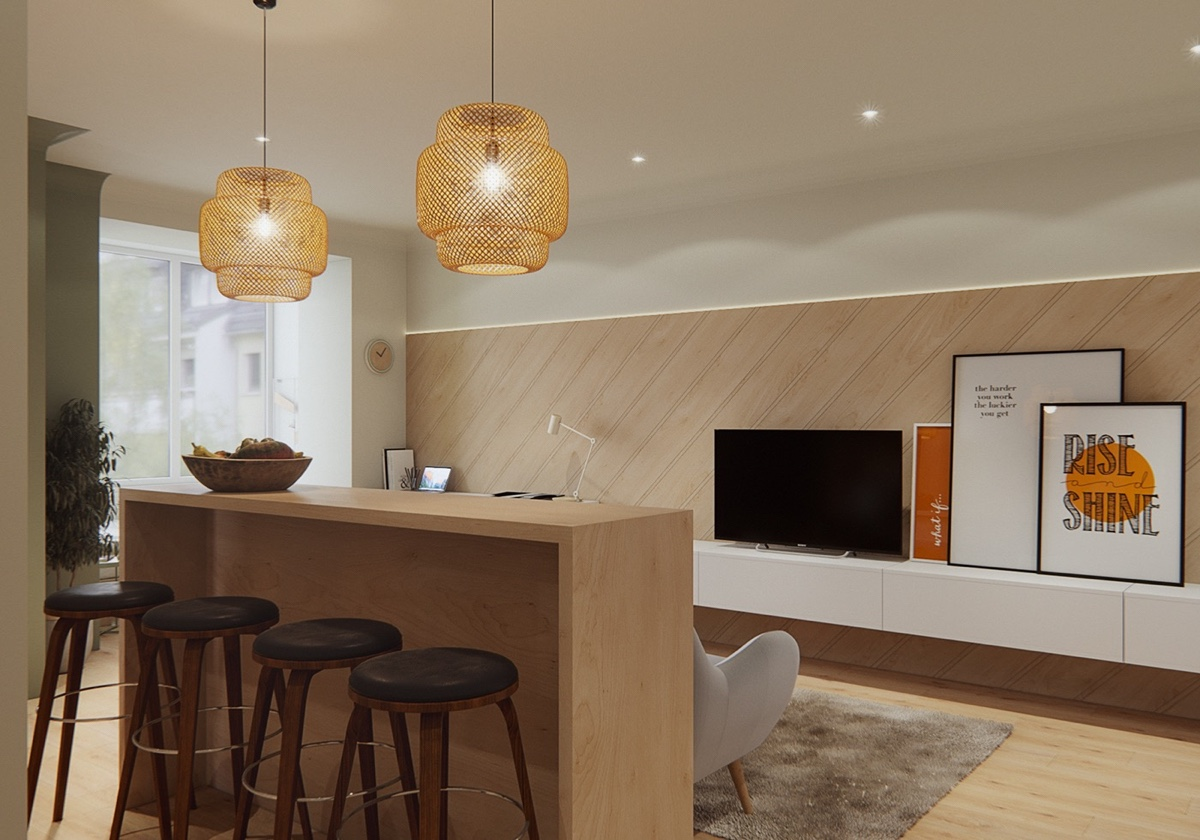 Small Kitchen Design Eating Area