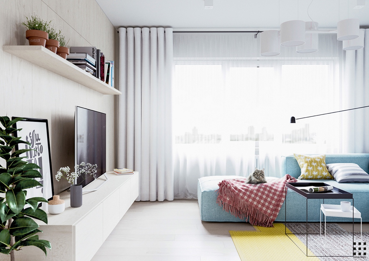 A Scandinavian Style Apartment Perfect For a Small Family on Apartment Decorating Styles  id=17516