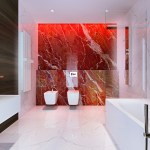White Red Marble Bathroominterior Design Ideas