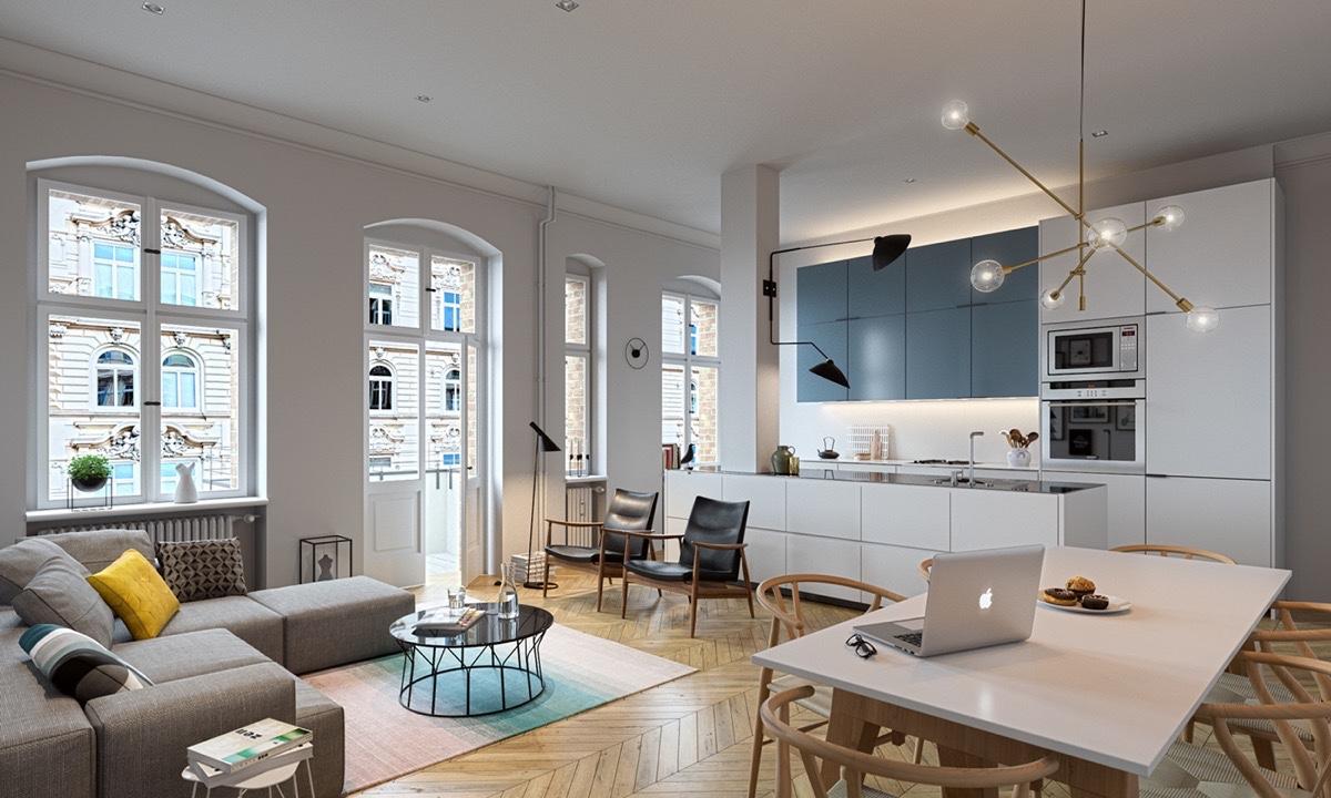 cucina in muratura 70 idee per cucine moderne rustiche. Open Plan Interior Design Inspiration