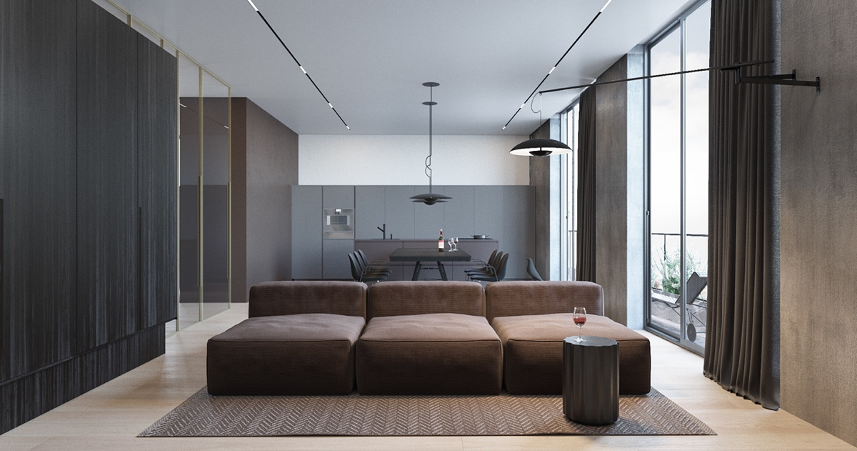 The First Apartment Showcases The Ideal Minimalistic Style, That Is Sleek,  Stylish And Neat. The Open Plan Living Area Is Perfect For Busy Children,  ...