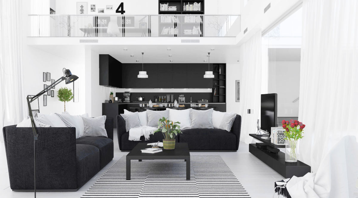 black furniture living room ideas