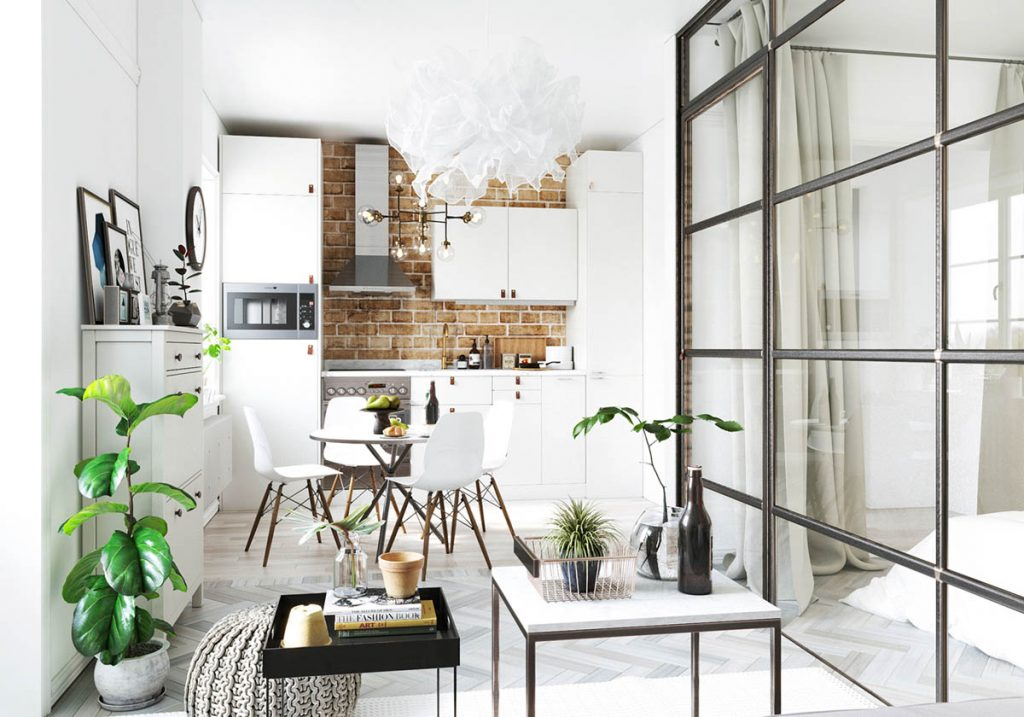 Studio Apartments In Three Modern Styles on Apartment Decorating Styles  id=51401