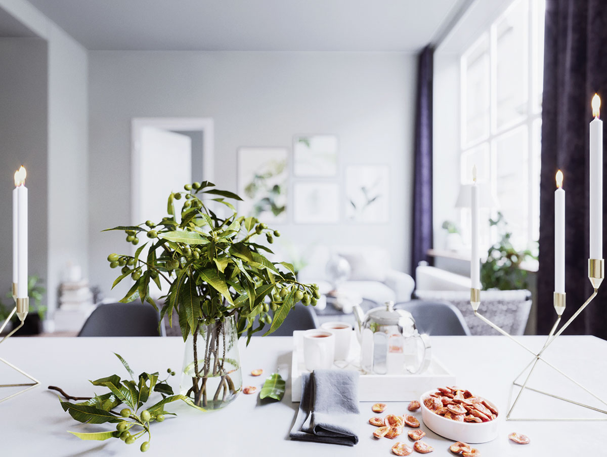 HOME DESIGNING: 3 Soothing Scandinavian Interiors