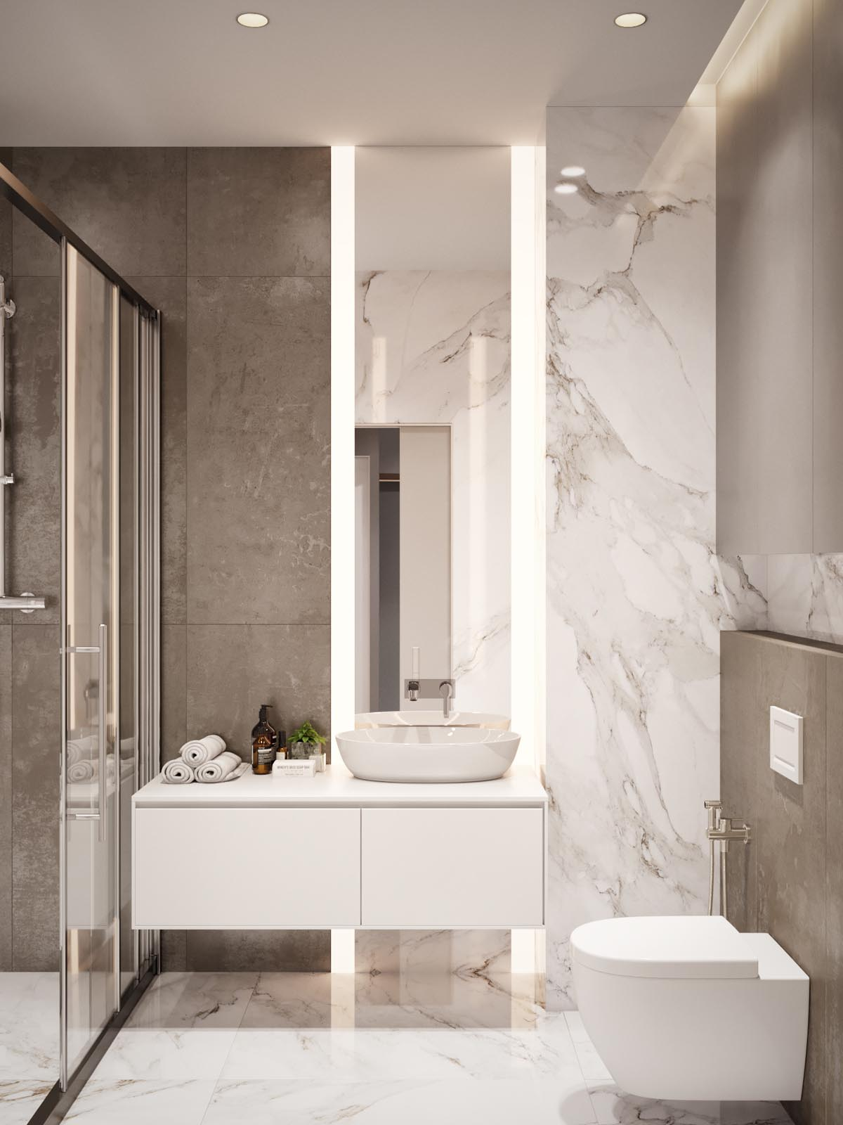 Home Design Under 60 Square Meters: 3 Examples That ... on Bathroom Designs For Small Spaces  id=95442