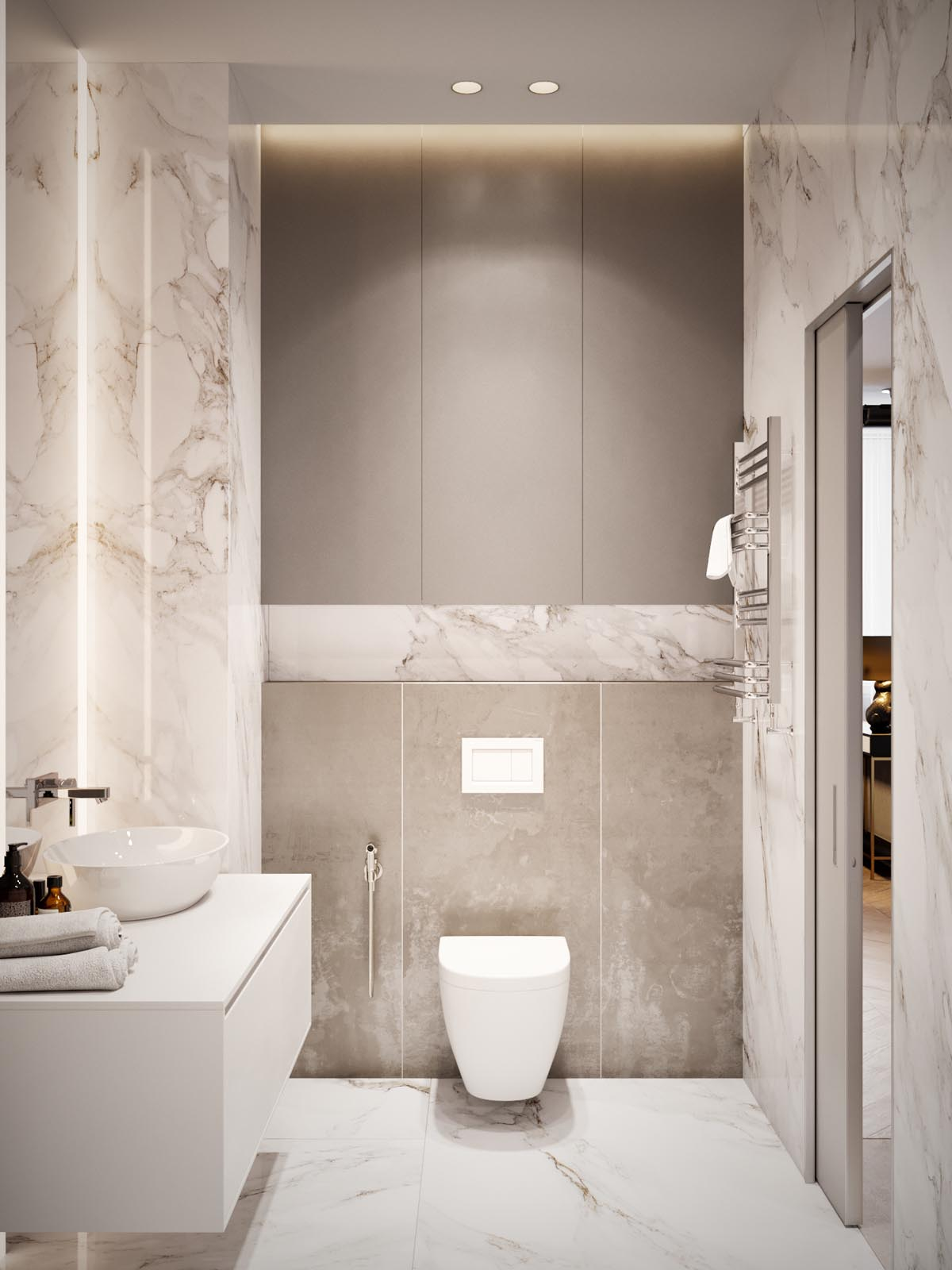 Home Design Under 60 Square Meters: 3 Examples That ... on Nice Bathroom Designs For Small Spaces  id=94292