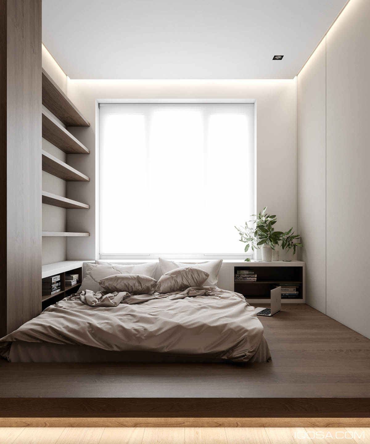 Home Design Under 60 Square Meters: 3 Examples That ... on Bedroom Minimalist Design  id=49970