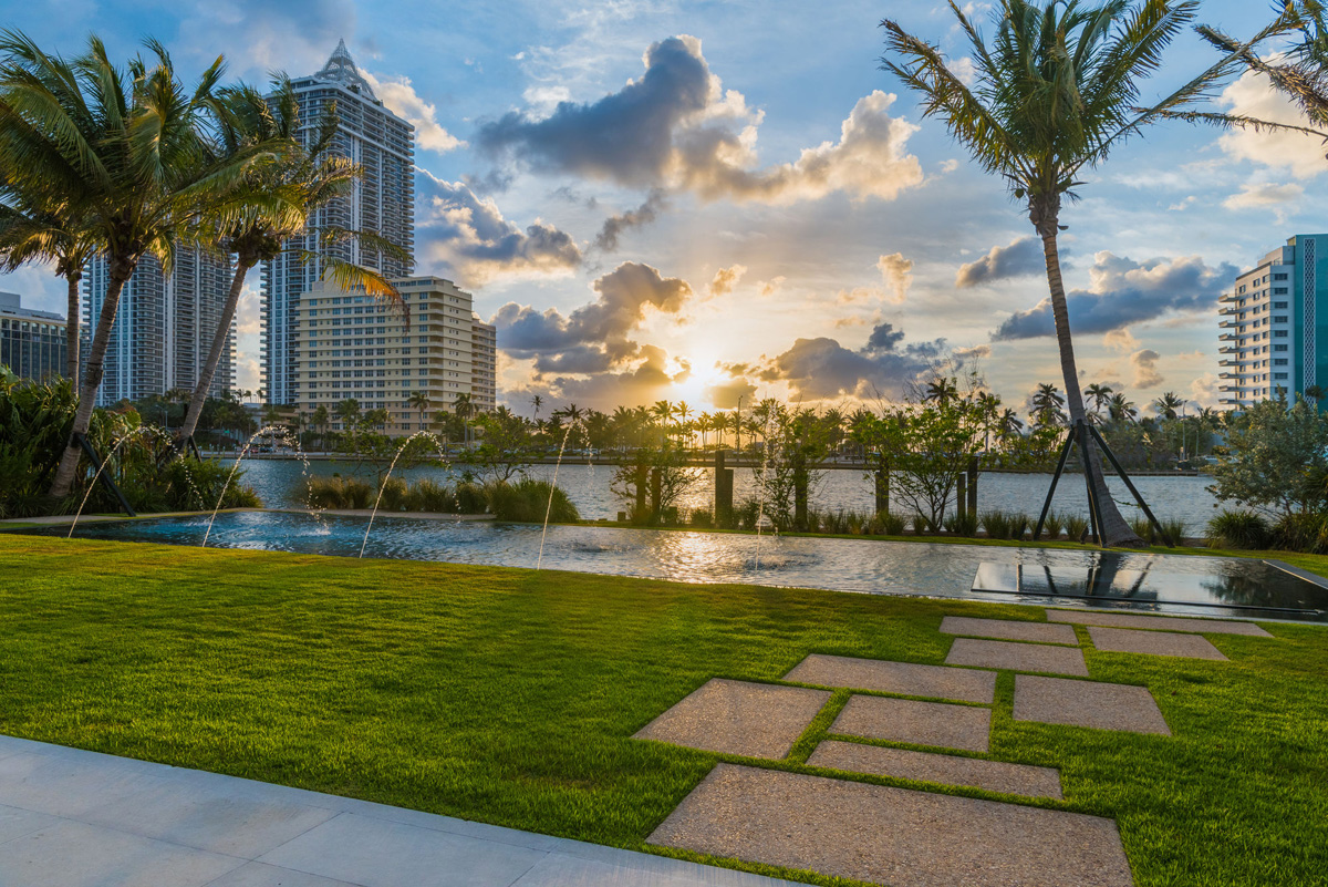 A Luxury Miami Beach Home With Pools Natural Lagoons And