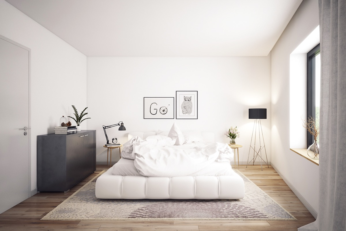 32 White Bedrooms That Exude Calmness on Basic Room Ideas  id=38665