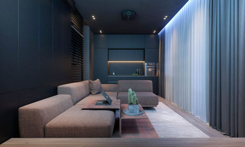 L Shaped Kitchen Dining Living Room Designs