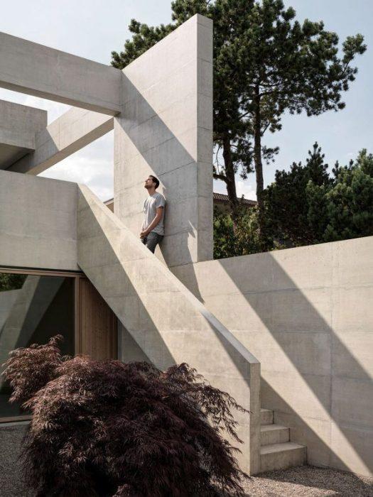 Swiss cubic house tour a contemporary concrete landmark