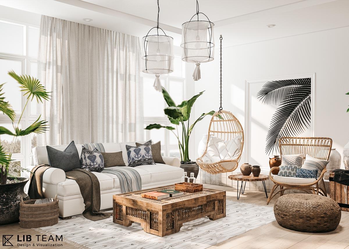 African Room Living Decor Inspired