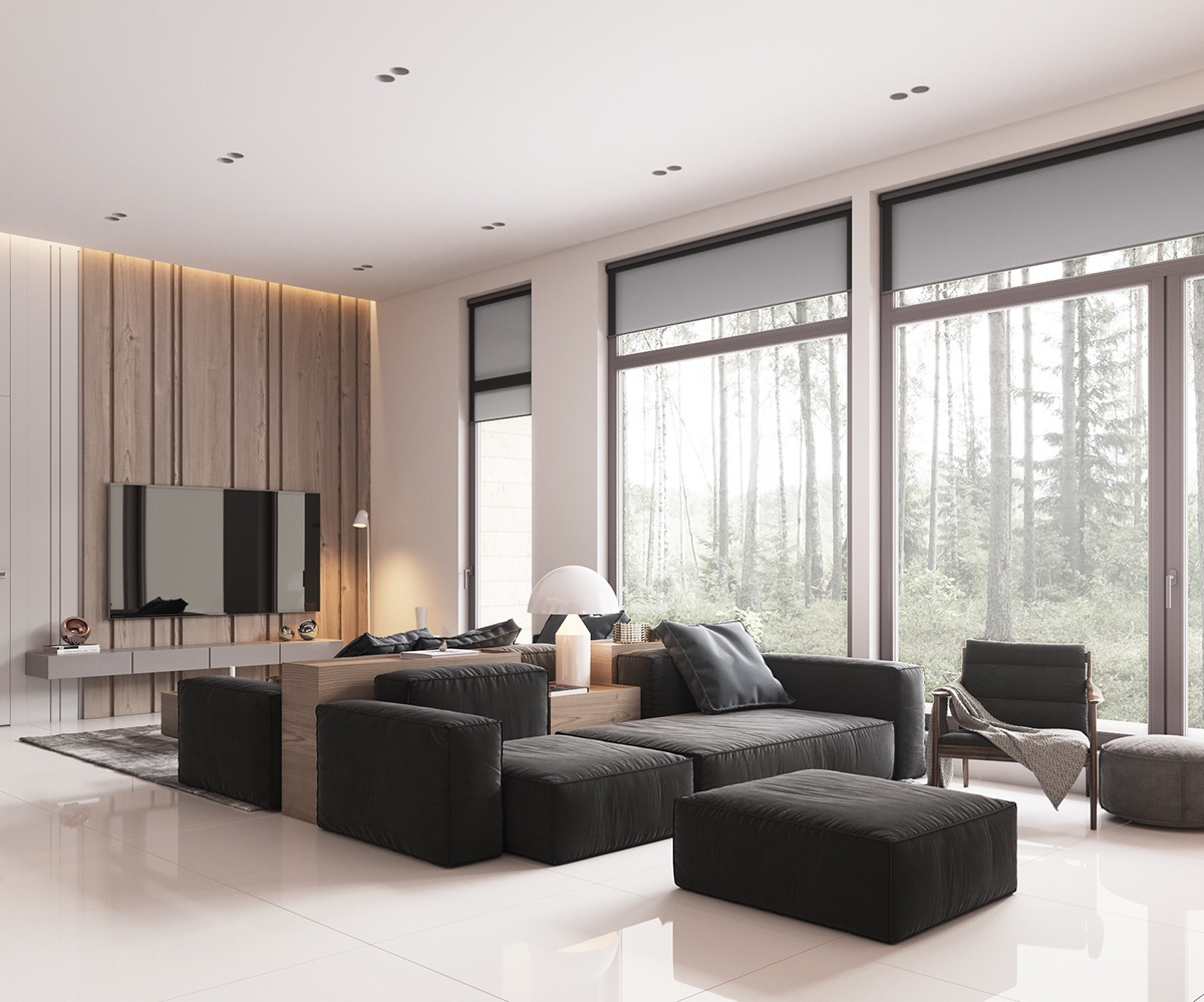 40 Gorgeously Minimalist Living Rooms That Find Substance ... on Minimalist Living Room Design  id=54370