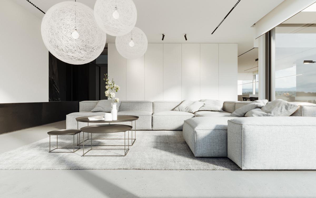 40 Gorgeously Minimalist Living Rooms That Find Substance ... on Minimalist Room Design  id=90460