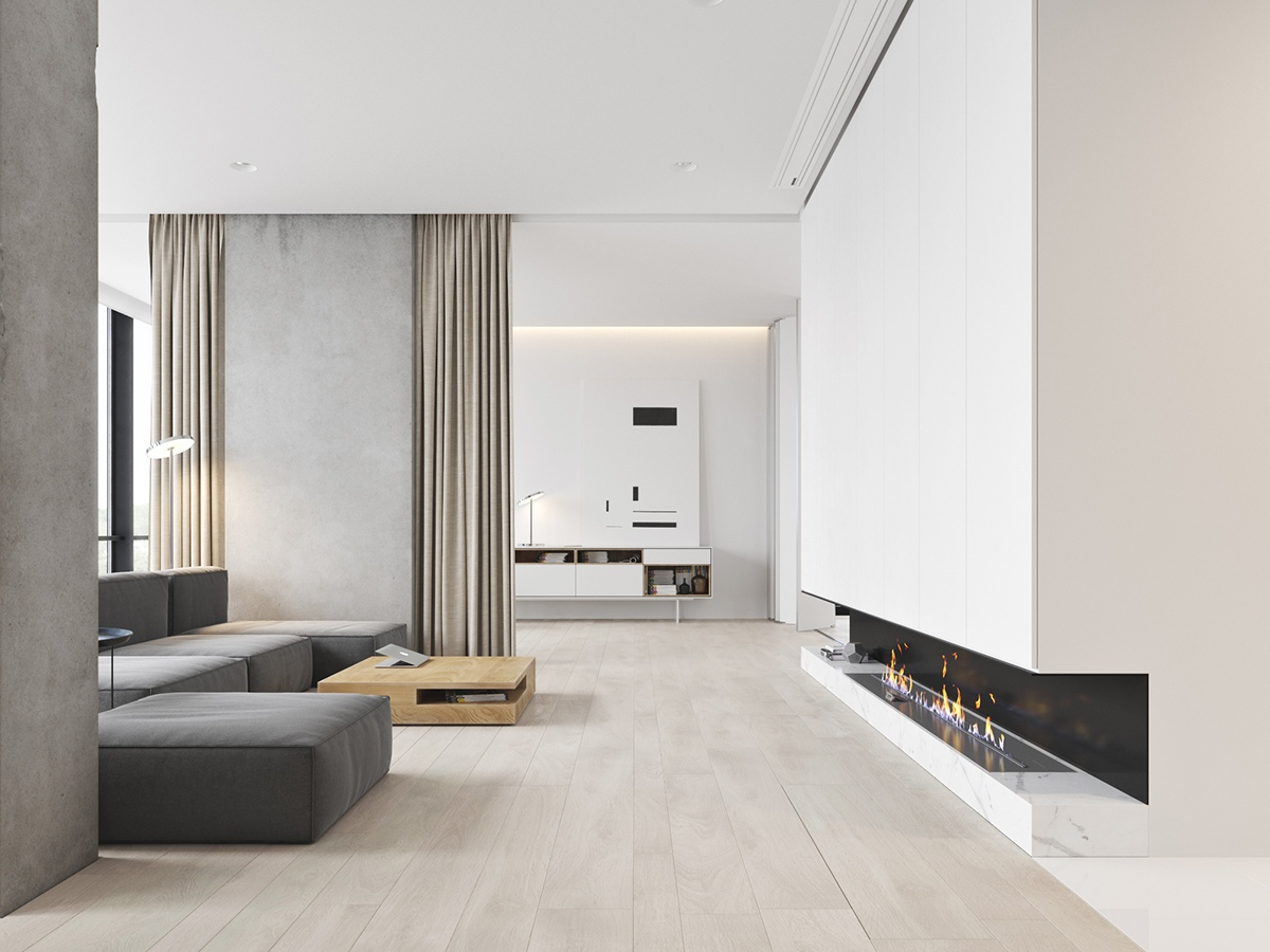 40 Gorgeously Minimalist Living Rooms That Find Substance ... on Minimalist Living Room  id=88150