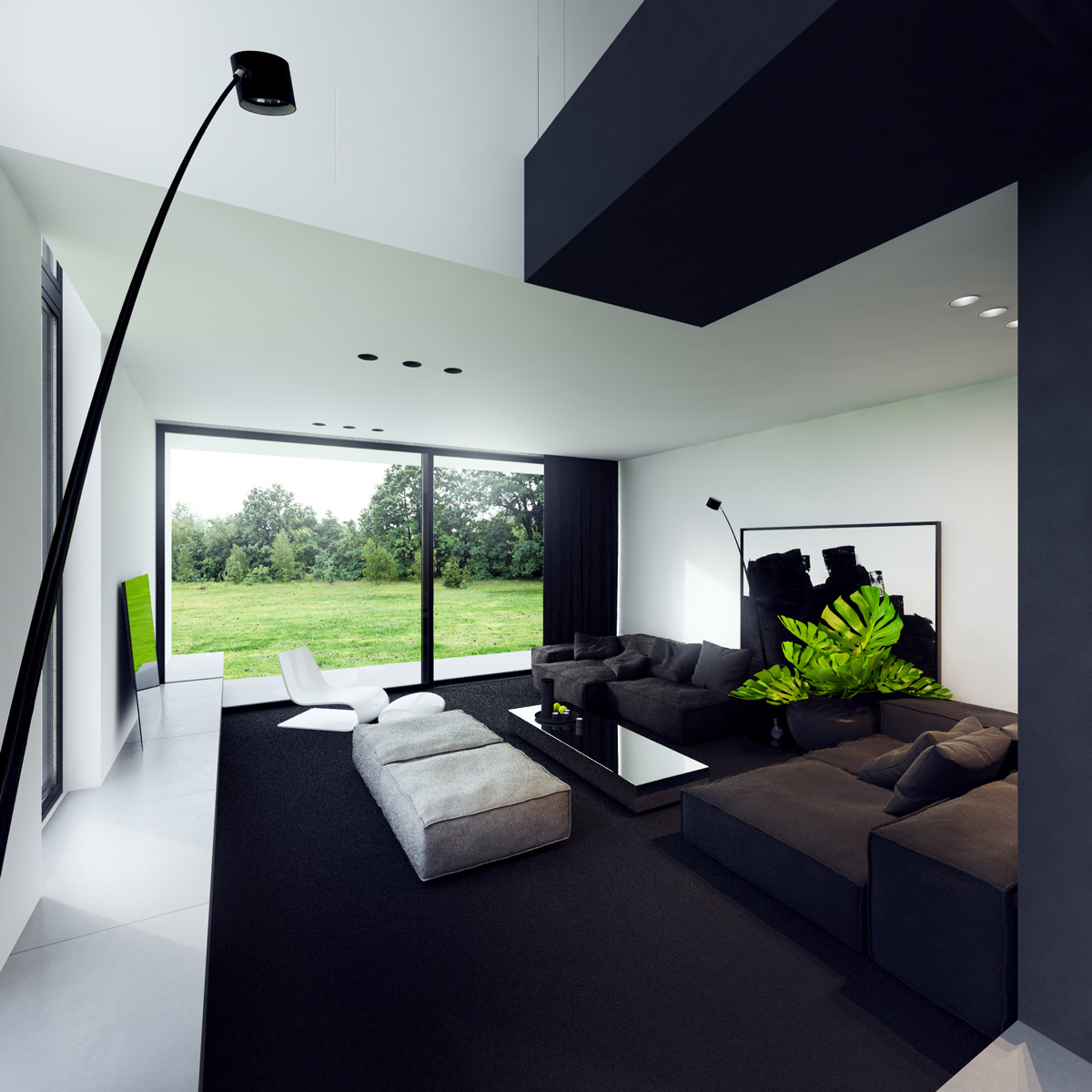 40 Gorgeously Minimalist Living Rooms That Find Substance ... on Minimalist Living Room  id=14858