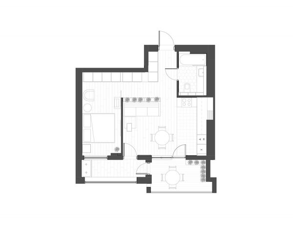 3 Modern Small Apartment Designs Under 50 Square Meters That ...