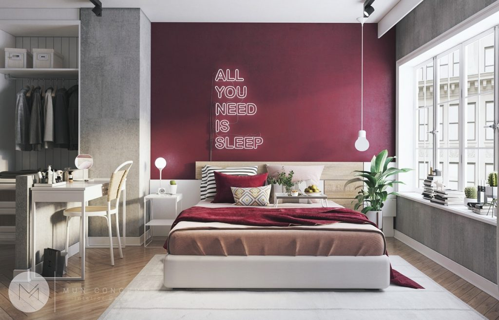 How To Use Colors To Spice Up A Concrete Decor Scheme 3