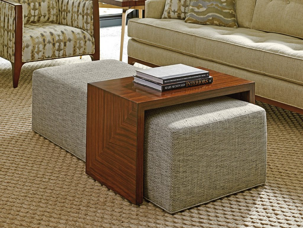 Leather Footstool Coffee Table